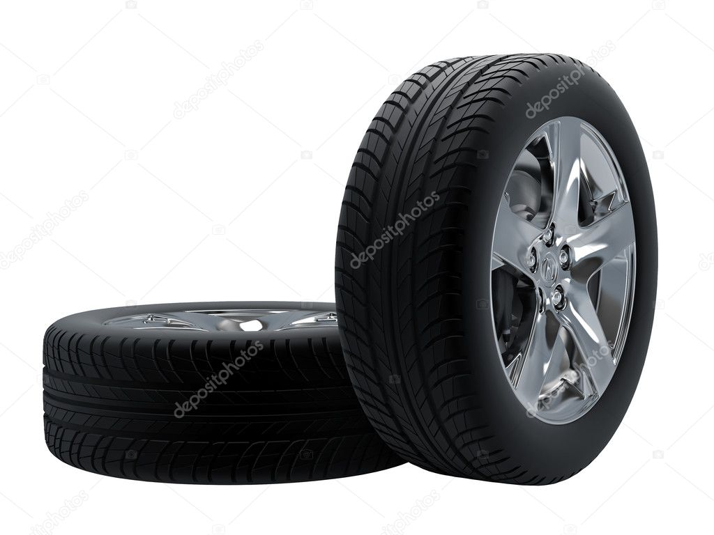 Tires isolated on white background. High resolution image. — Stock Photo #2935625
