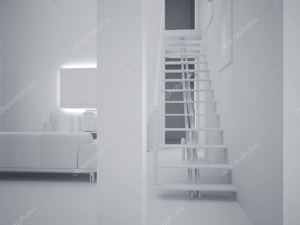High resolution image interior. 3d illustration modern interior. Living room.  Stock Photo #3118158