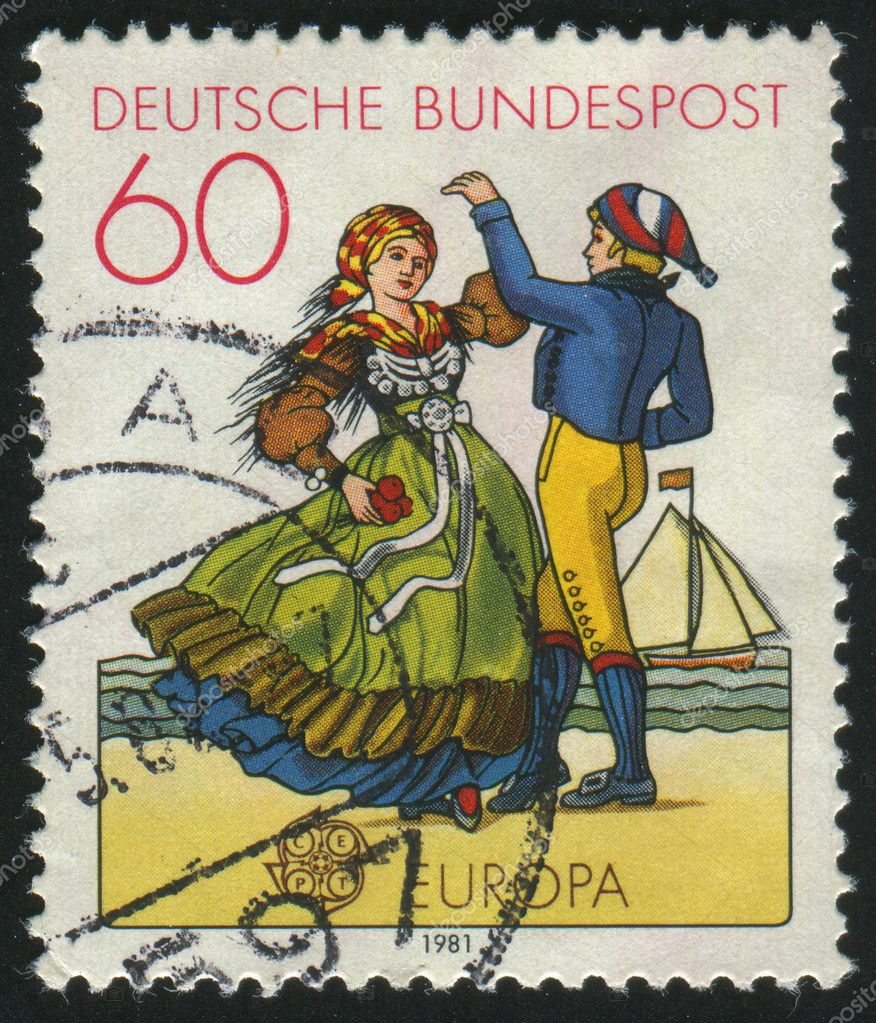 GERMANY  - CIRCA 1981: stamp printed by Germany, shows dancing, circa 1981.  Stock Photo #3119142