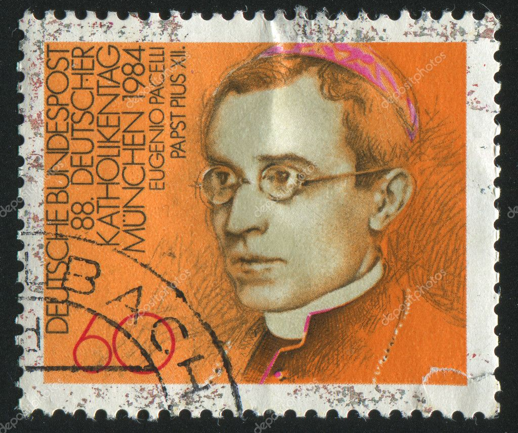 GERMANY  - CIRCA 1984: stamp printed by Germany, shows portrait Pope Pius XII, circa 1984. — Stock Photo #3119490