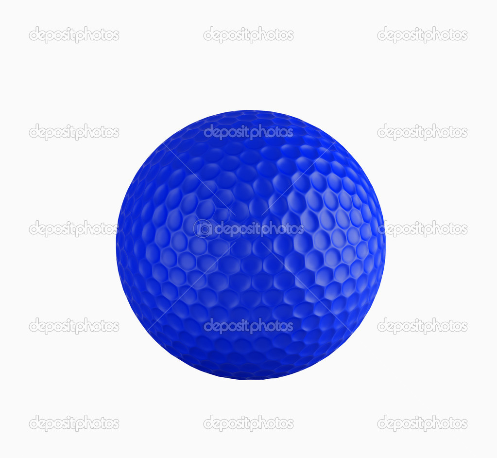 Golf ball isolated on white. 3d illustration. High resolution image. — Stock Photo #3187250
