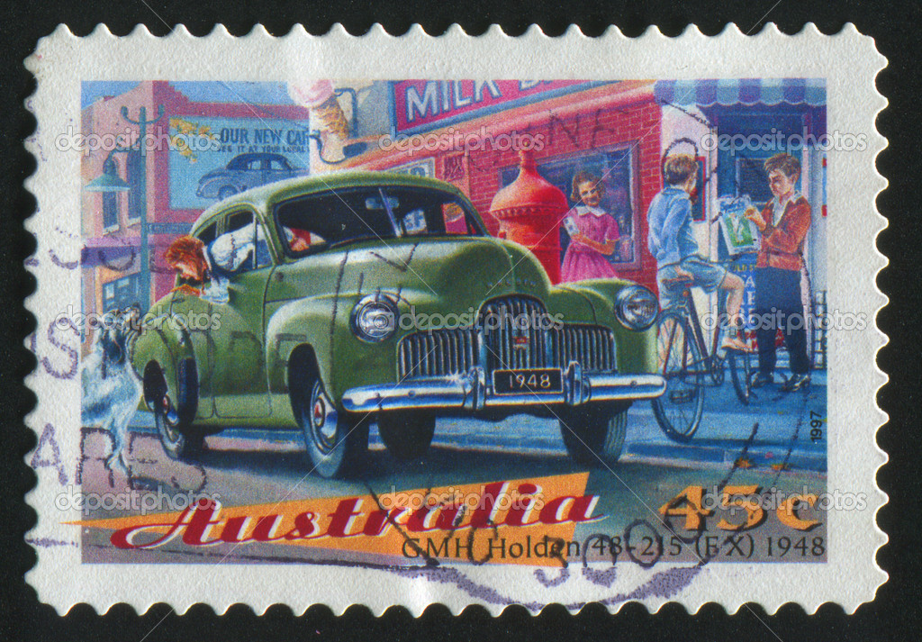 AUSTRALIA - CIRCA 1997: stamp printed by Australia, shows old auto, circa 1997. — Stock Photo #3188726