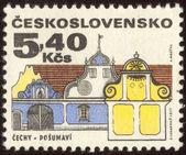 почтовая марка установить два — Стоковое фото