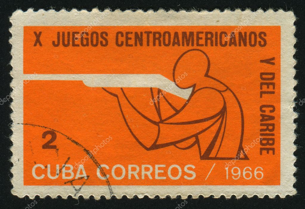 CUBA - CIRCA 1966: 10th Central American and Caribbean games. Rifle shooting, circa 1966. — Stock Photo #3288768