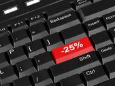 Keyboard - with a twenty five percent — Stock Photo