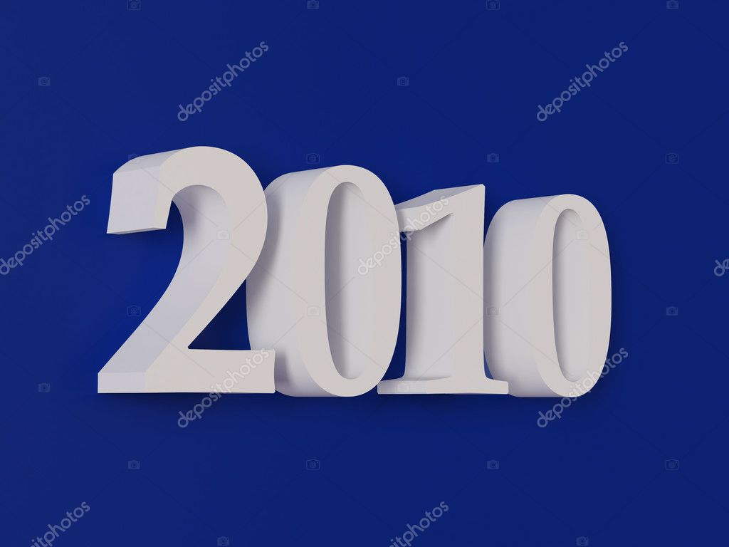 High resolution image new-year.  3d illustration over white backgrounds. — Stock Photo #3428781