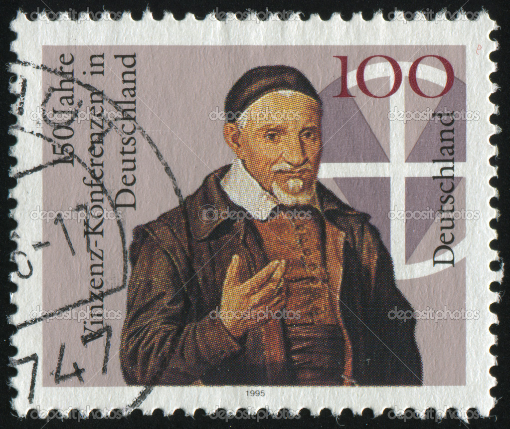 GERMANY- CIRCA 1995: stamp printed by Germany, shows Vincent Conferences in Germany, circa 1995. — Stock Photo #3498264