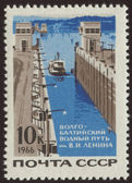 Vintage postage stamp set two — Stock Photo