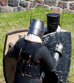 Reconstruction of knightly fight — Foto de Stock