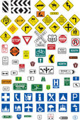 Traffic signs — Vetorial Stock
