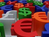 Símbolos de moeda — Foto Stock