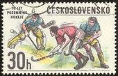 Vintage timbre-poste définir quatre vingt trois — Photo