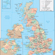 United Kingdom map — Vetorial Stock #4063791