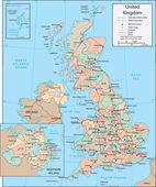 Mapa do reino unido — Vetorial Stock