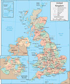 United Kingdom map — Vetorial Stock