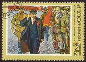 Retro postage stamp twenty one — Stock Photo