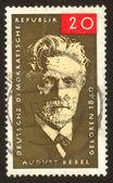 Retro postage stamp hundred fourteen — Stock Photo