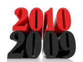 Nieuwjaar 2010 twaalf — Stockfoto