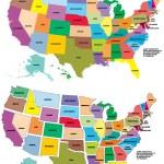 Vector USA map — Stock Vector #4150155