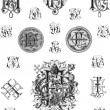 Royalty-Free Stock Imagen vectorial: Monogram set three