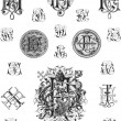 Monogram set three — Stock Vector