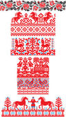Russian ornaments — Stock Vector