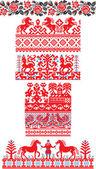 Russian ornaments — Stock Vector