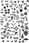 élément floral pour designer — Vecteur