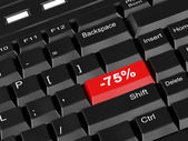 Keyboard - with a seventy five percent — Stock Photo