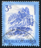 Stamp printed by Austri — Stock Photo