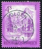 Stämpel tryckt av österrike — Stockfoto