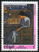 Donna seduta — Foto Stock