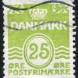Stamp by Denmark — Stock Photo