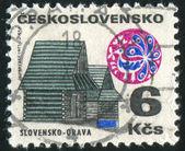 Timbro cecoslovacchia — Foto Stock