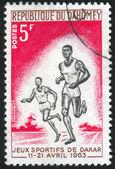 Stamp by Dahomey — Stock Photo