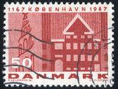 Pieczęć przez Danię — Zdjęcie stockowe