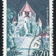 Stamp printed by France — Stockfoto