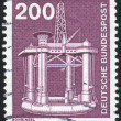 Stamp printed by Germany - Stock Photo