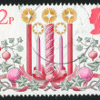 Stamp by Great Britain - Stock Photo