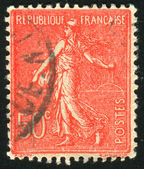 由法国印制的邮票 — 图库照片