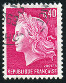 Stamp printed by France — Stock Photo