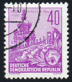 Známka vytištěna německo — Stock fotografie