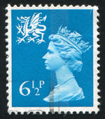 Stamp by Great Britain — Stock Photo