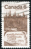 Stamp printed by Canada — Stok fotoğraf
