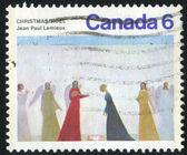 Stämpel tryckt av kanada — Stockfoto