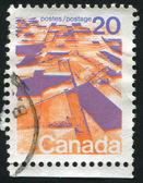 由加拿大印制的邮票 — 图库照片