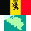 Kingdom of Belgium flag — Stock Vector