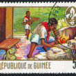 Stamp by Guinea — Stock Photo
