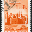 Stamp printed by Hungary — Stockfoto