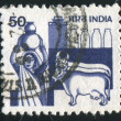 Stamp by India — Stockfoto